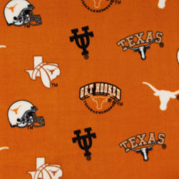 Collegiate Fleece University of Texas Tossed Orange/Black Fabric