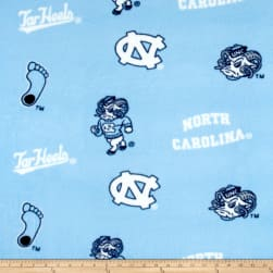 Collegiate Fleece University of North Carolina Tossed Fabric