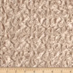 Shannon Minky Rose Cuddle Camel Fabric