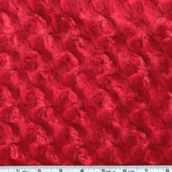 Shannon Minky Rose Cuddle Red Fabric