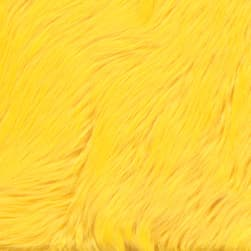 Shannon Faux Fur Luxury Shag Yellow Fabric
