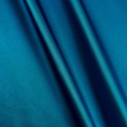 Silky Satin Charmeuse Solid Peacock Fabric
