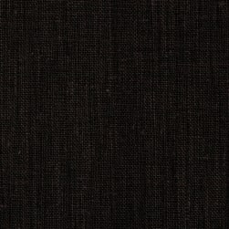 Medium Weight Linen Black Fabric
