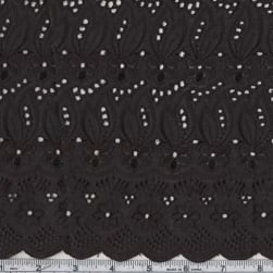 Fancy Eyelet Jet Black Fabric
