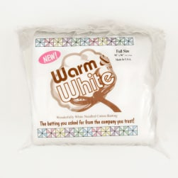 Warm & White Cotton Batting (90'' x 96'')