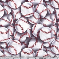 Timeless Treasures Baseball Toss White