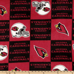 NFL Fleece Arizona Cardinals Squares Black/Red