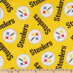 NFL Fleece Pittsburgh Steelers Medium Logo Yellow
