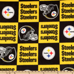 NFL Fleece Pittsburgh Steelers Squares Yellow/Black