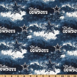 NFL Cotton Broadcloth Dallas Cowboys Blue/White