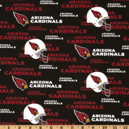 NFL Cotton Broadcloth Arizona Cardinals Red/Black/White