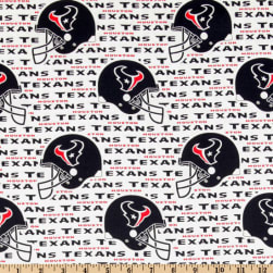 NFL Cotton Broadcloth Houston Texans White/Navy
