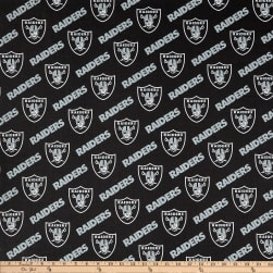 NFL Cotton Broadcloth Oakland Raiders Black/Silver