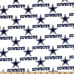 NFL Cotton Broadcloth Dallas Cowboys White