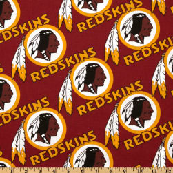 NFL Cotton Broadcloth Washington Redskins Maroon/Gold