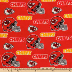 NFL Fleece Kansas City Chiefs Toss Red/Yellow Fabric