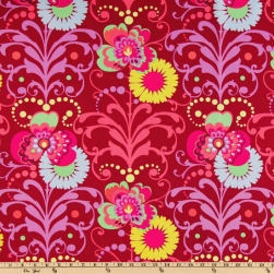 Amy Butler Love Paradise Garden Wine Fabric