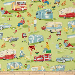 Michael Miller Trailer Travel Camp Multi Fabric
