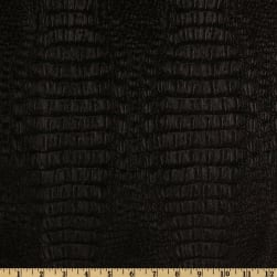 Faux Leather Gator Black Fabric