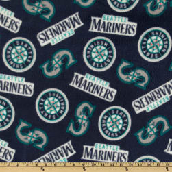 MLB Fleece Seattle Mariners Toss Teal/Blue Fabric
