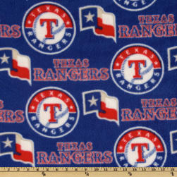 MLB Fleece Texas Rangers Toss Red/White/Royal Fabric
