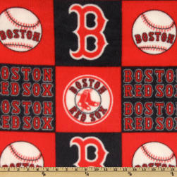 MLB Fleece Boston Red Sox Blocks White/Red/Blue