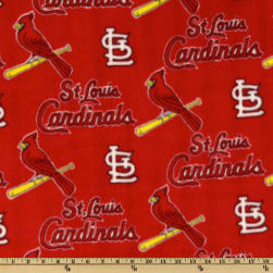 MLB Fleece St. Louis Cardinals Allover Red Fabric