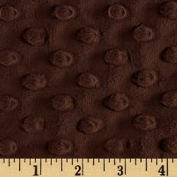 Shannon Minky Cuddle Dimple Chocolate Fabric