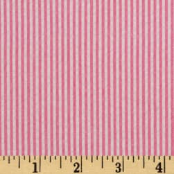 Kaufman Classic Seersucker Stripes Fuchsia/White Fabric
