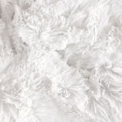 Shannon Minky Shaggy Cuddle White Fabric