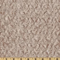 Shannon Minky Rose Cuddle Latte Fabric