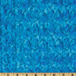 Shannon Minky Rose Cuddle Dark Turquoise Fabric