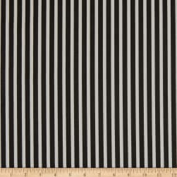 Premier Prints Carrie Stripe Black/White Fabric