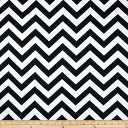 Premier Prints Zig Zag Black/White Fabric