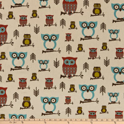 Premier Prints Hooty Owl Village Fabric