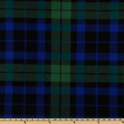 Baum WinterFleece Green/Blue/Black Watch Plaid Fabric