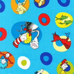 Celebrate Seuss! Celebration Character Cameos Turquoise Fabric