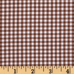 Kaufman 1/8'' Carolina Gingham Chocolate Fabric
