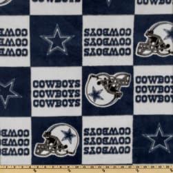 NFL Fleece Dallas Cowboys Blue Blocks Blue/Gray Fabric