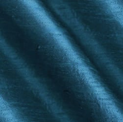 Dupioni Silk Fabric Iridescent Teal Blue Fabric
