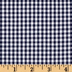Kaufman 1/8'' Carolina Gingham Navy Fabric