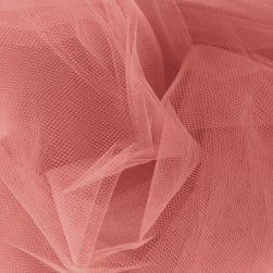 108'' Apparel Grade Tulle Coral Fabric