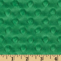 Shannon Minky Cuddle Dimple Kelly Green Fabric