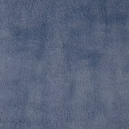 Shannon Minky Solid Cuddle 3 Denim Fabric