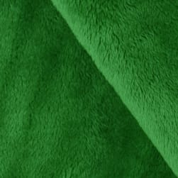 Shannon Minky Solid Cuddle 3 Kelly Green Fabric