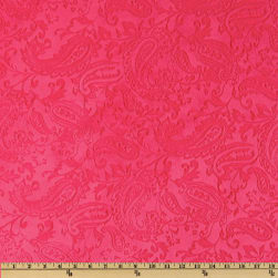 Shannon Minky Embossed Paisley Cuddle Watermelon Fabric