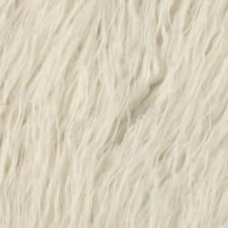 Shannon Lux Fur Curly Mongolian White Fabric