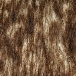 Shannon Faux Fur Russian Husky White/Brown Fabric