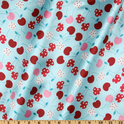 Robert Kaufman Silky Satin Merry Cherry Salt Water/Red