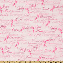 Timeless Treasures Ribbons Of Hope Pink Fabric